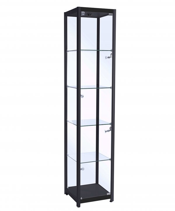 Tall Glass Cabinet (400mm) Satin Black