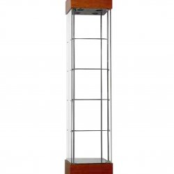 TR457NR Glass Display Cabinet-cherry