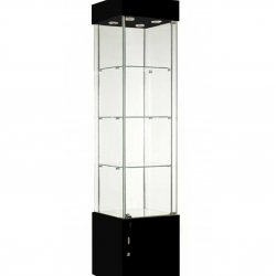 TR457NR-WC Glass Display Cabinet-black